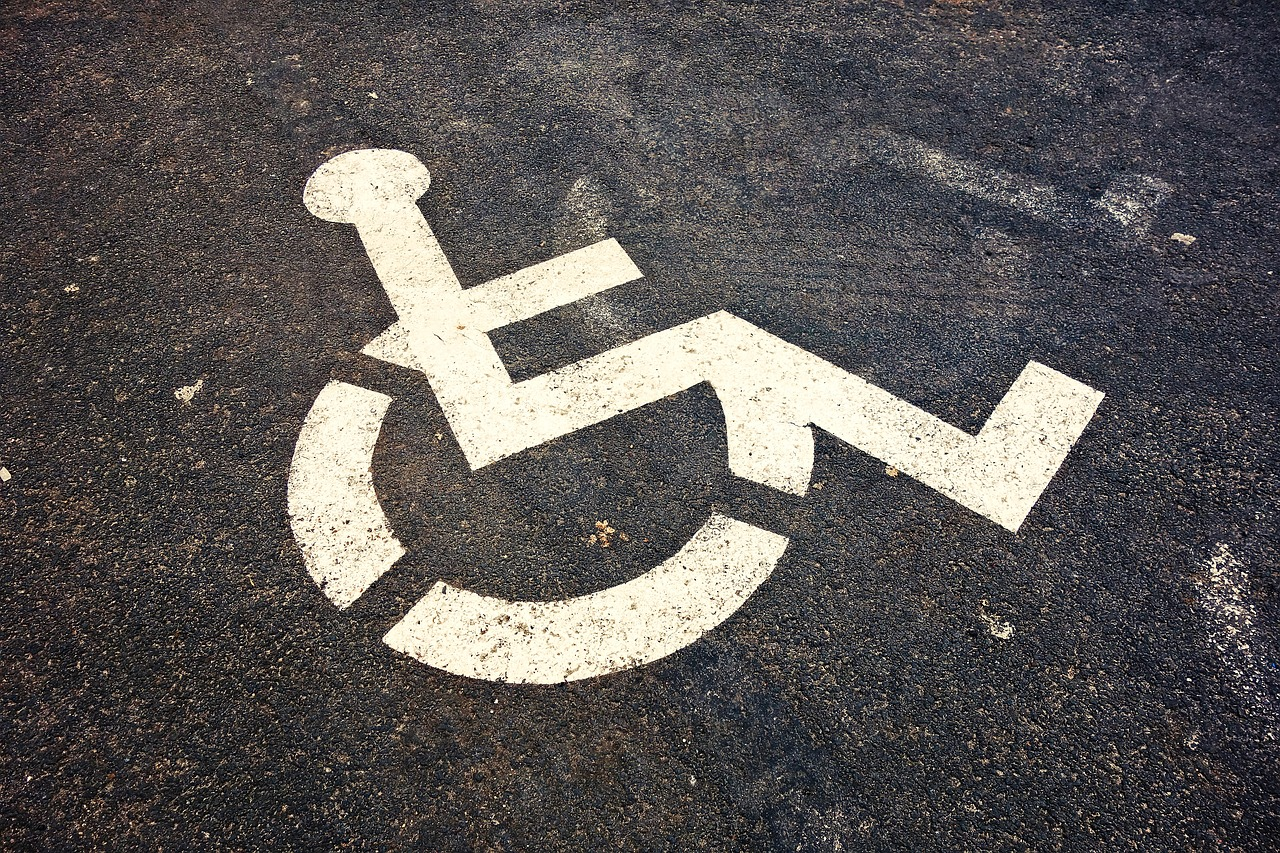 generic photo of symbol of disabled parking space