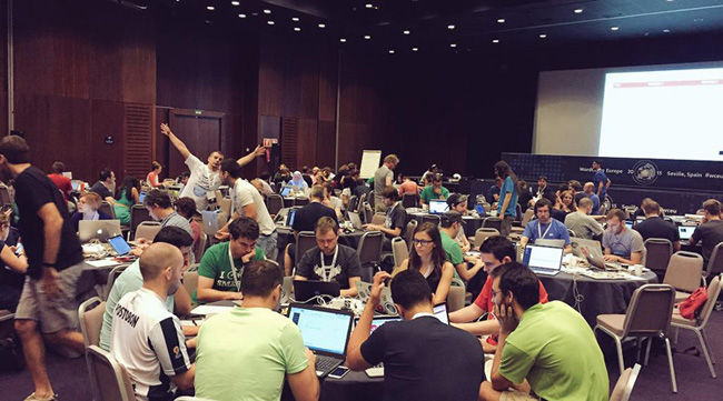 Contributor Day at WordCamp Europe 2015 - photo credit Kevin Muldoon